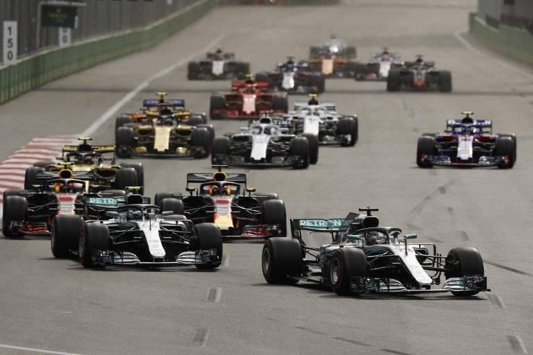 Lewis Hamilton en el GP de Azerbaiyán