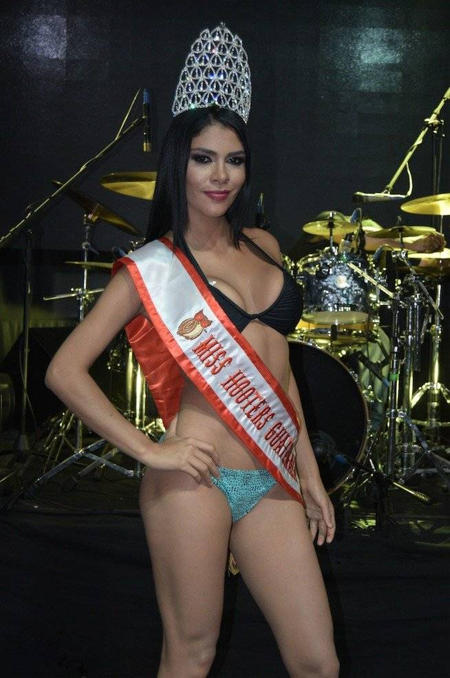 Andrea Samayoa ganó el certamen Chica Hooters Guatemala 2018. Foto: Mónica Avila
