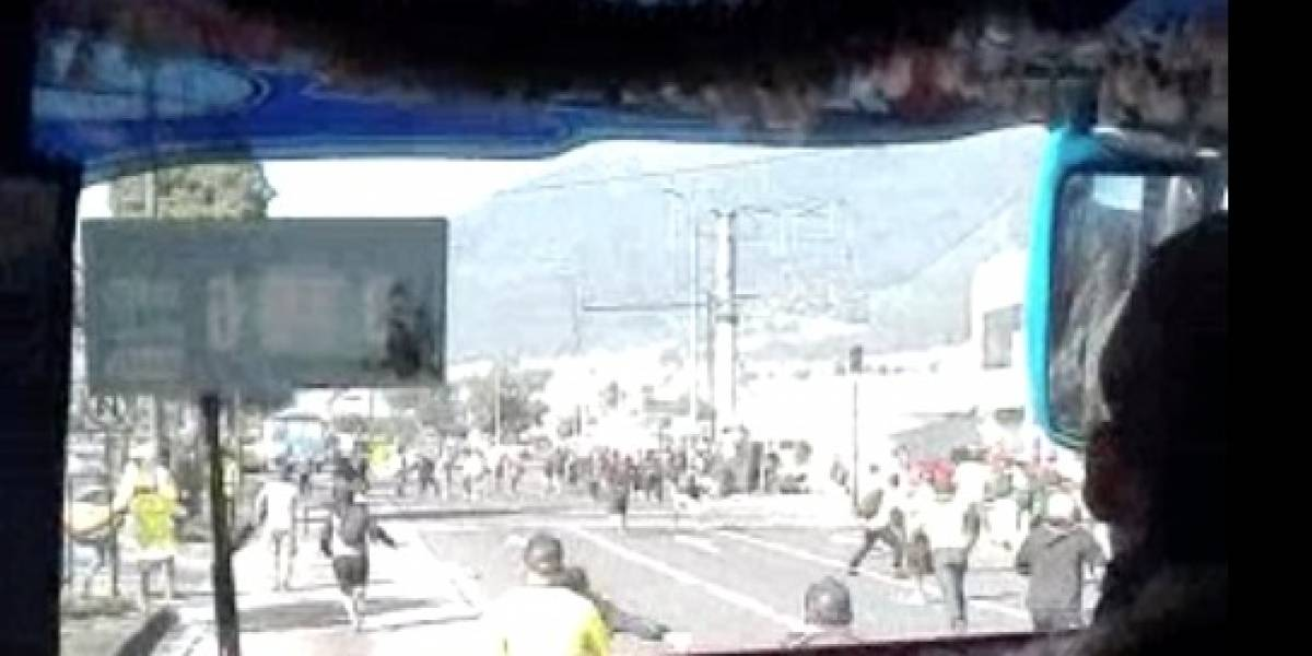 LDU vs. BSC: Se produjo una gresca en los alrededores del estadio Rodrigo Paz Delgado