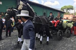 Carroza fúnebre de Arzú en La Antigua