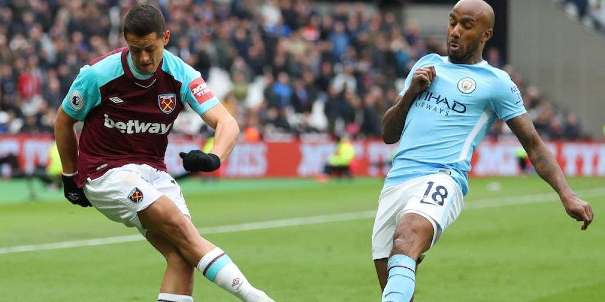 'Chicharito' y West Ham fueron humillados por Man City y los deja con problemas de descenso