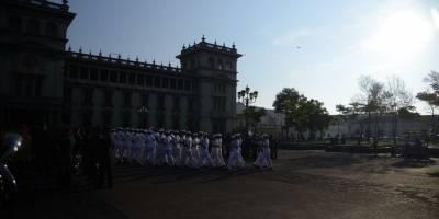 Fuerzas armadas en el Parque Central