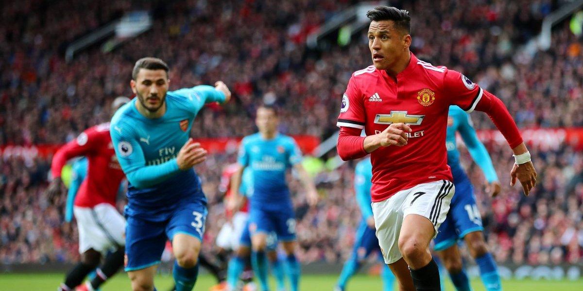 Manchester United logró una angustiante victoria en el partido más especial del año para Alexis