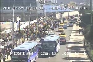 El ECU 911 brinda apoyo visual en los exteriores e interiores del Estadio Rodrigo Paz