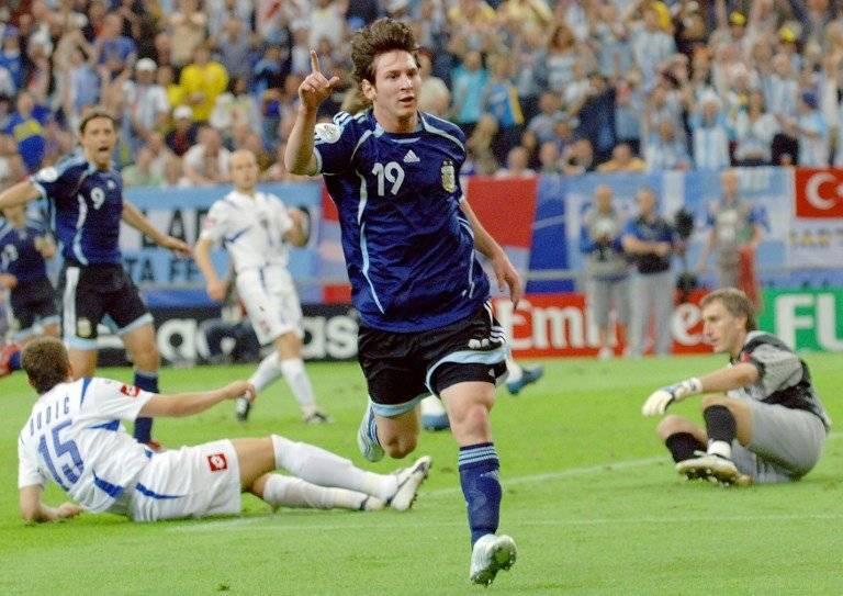 Messi y su primer gol en mundiales