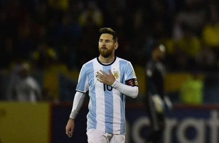 Lionel Messi durante el partido contra Ecuador