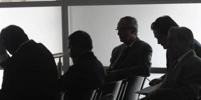 Álvaro Colom en audiencia del caso Transurbano