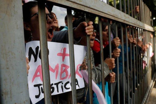 Manifestantes por el caso Ámbar