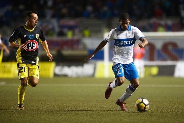 César Munder jugó 73 minutos ante San Luis en la posición de puntero izquierdo / Foto: Agencia UNO