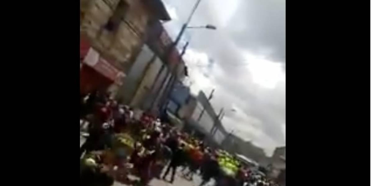 Linchan a sicario luego de matar a un hombre en Bogotá