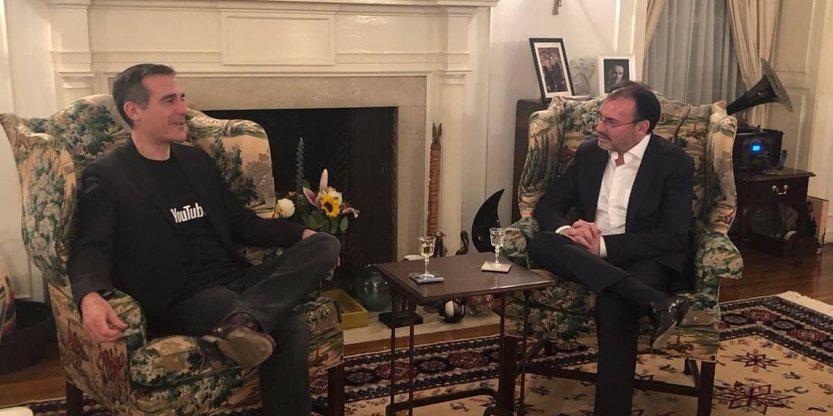 Videgaray se reúne con alcalde de Los Ángeles para fortalecer relaciones