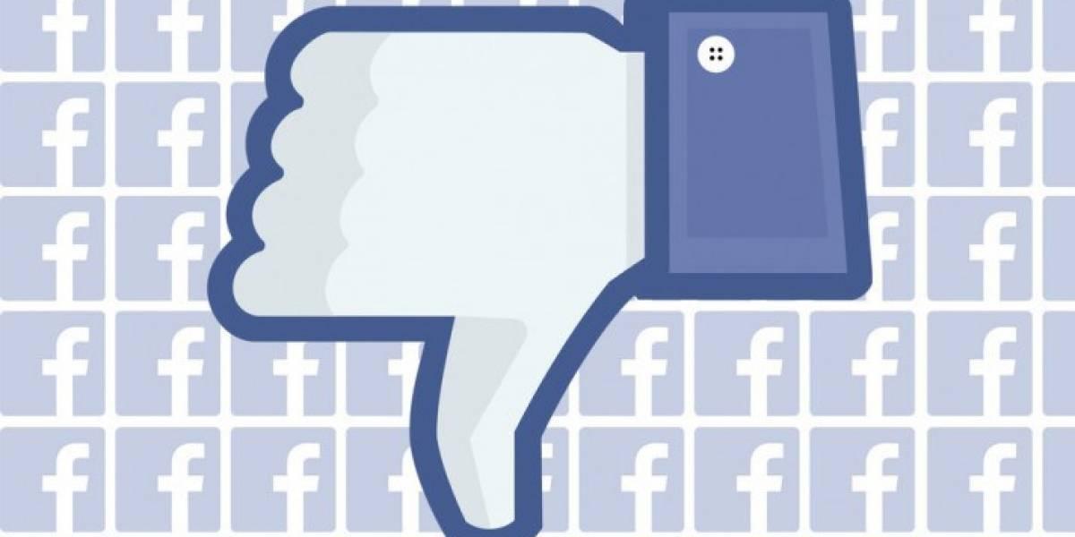 Facebook estaría probando la implementación de votos negativos en las cajas de comentarios