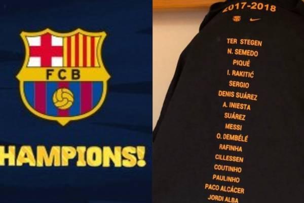 Inconformismo con la camiseta de celebración del campeonato de Barcelona