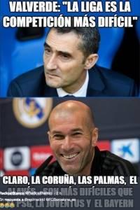 Ernesto Valverde y Zinedine Zidane