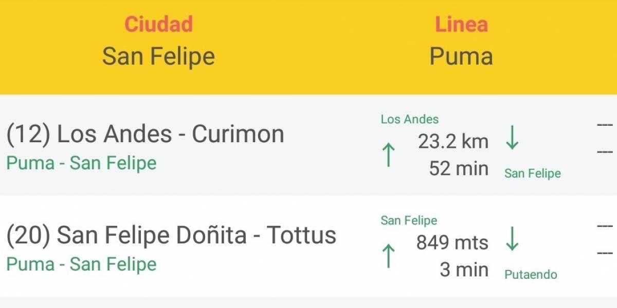 Lanzan app que permite conocer los tiempos de los buses en regiones