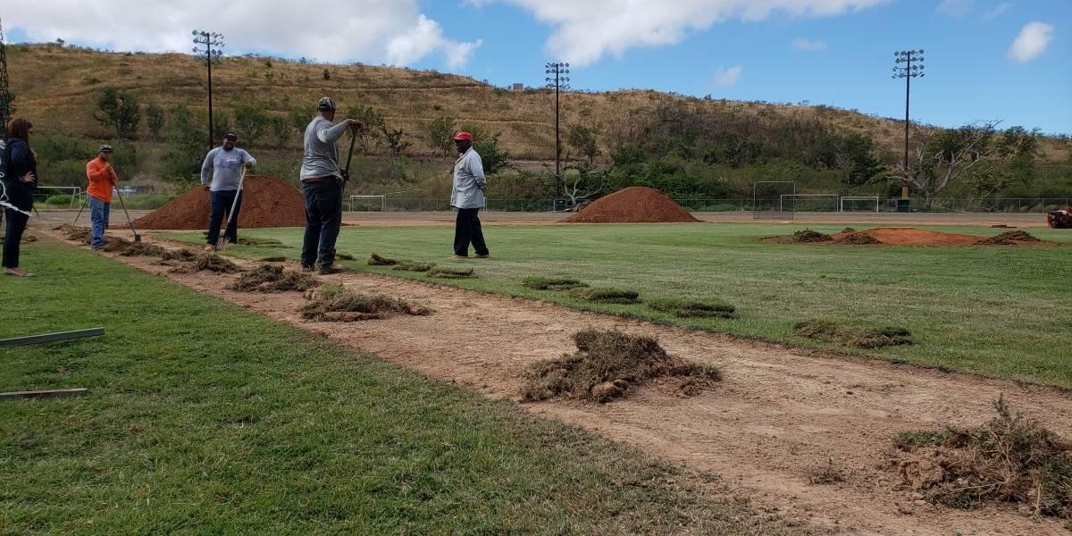 Inician trabajos para remozar el centro de béisbol y fútbol del Albergue Olímpico