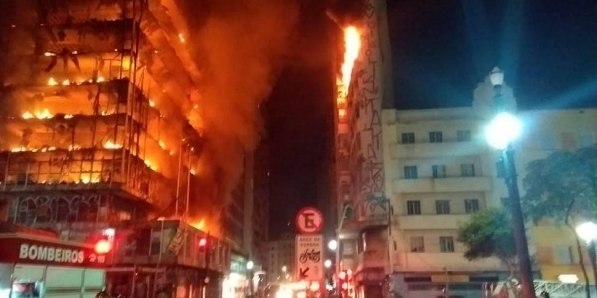 O que se sabe até agora sobre prédio que pegou fogo e desabou em SP