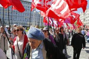 Manifestaciones en el mundo por el Día del Trabajo