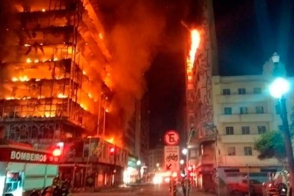 Incendio en Sao Paulo