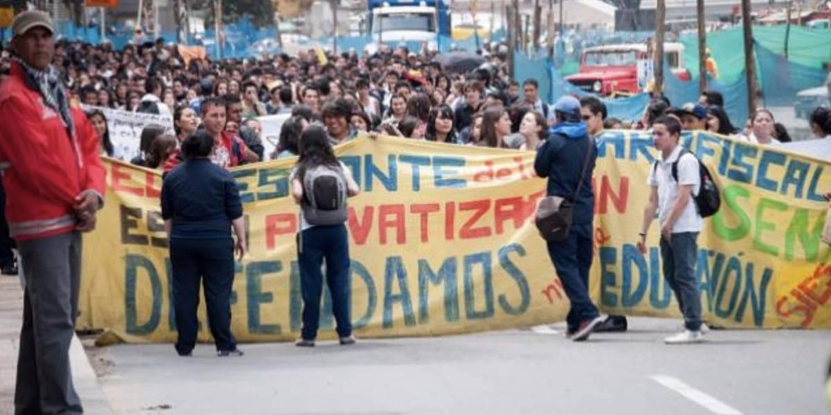 En vivo: así se desarrollan las marchas del Día del Trabajo en Bogotá