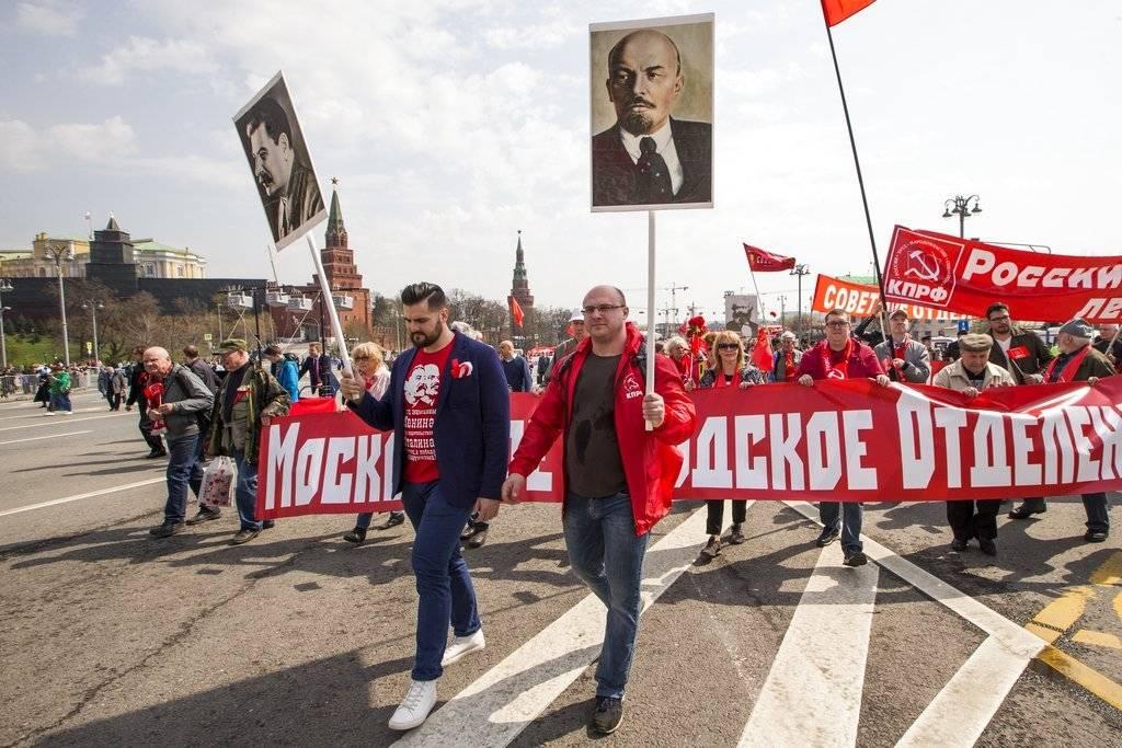 Marchas por el Día del Trabajo en Rusia