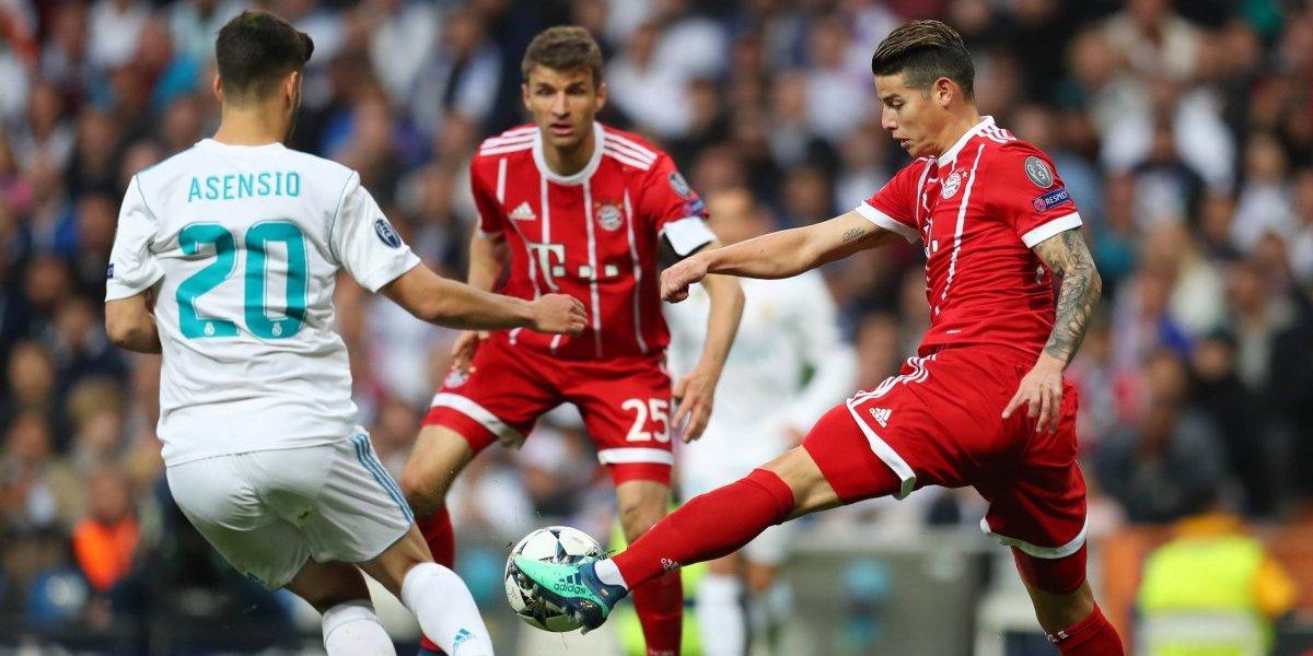 ¡Insólito! El gol que se comió James y le daba la clasificación al Bayern