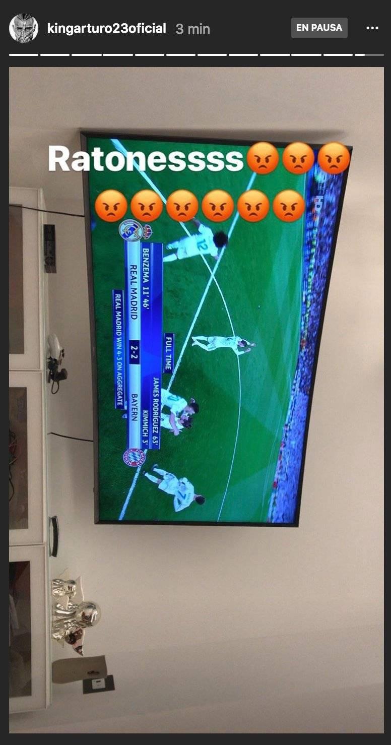 Así reaccionó Vidal tras la eliminación del Bayern