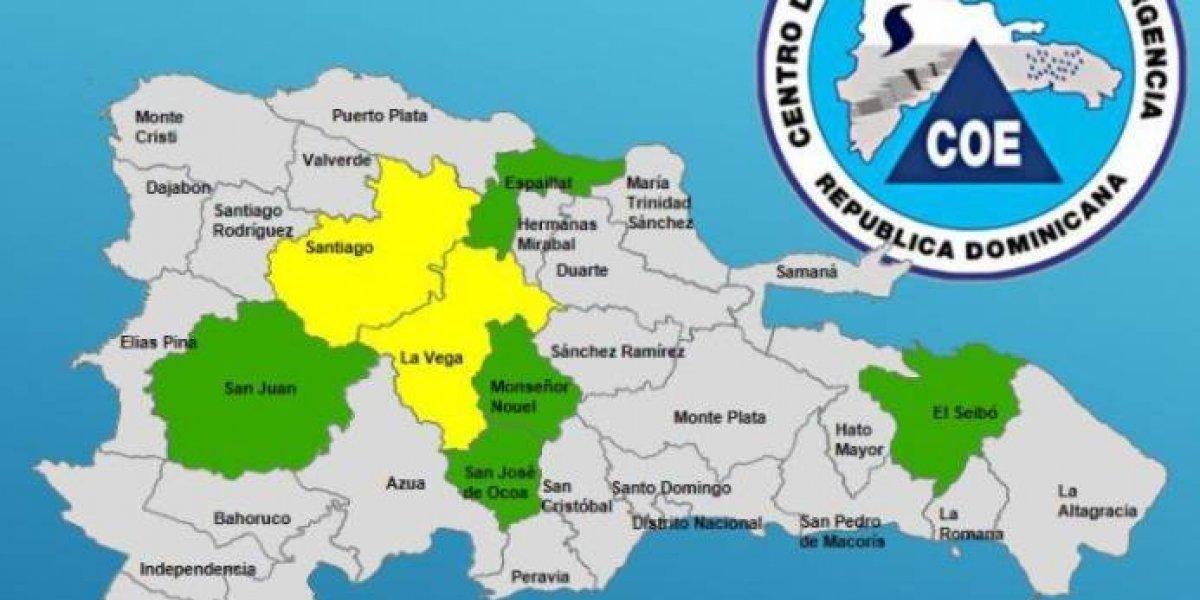 El COE coloca siete provincias en alerta por lluvias