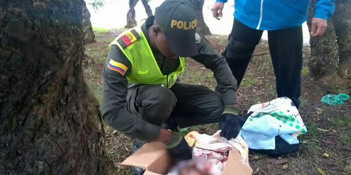 Abandonan a recién nacida en una caja en Bogotá