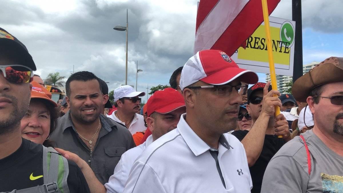 La delegación del Partido Popular Democrático (PPD), llegó acompañada de su presidente, Héctor Ferrer. / Foto: David Cordero Mercado