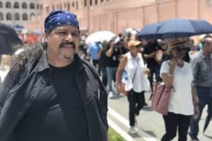 El senador independiente, José Vargas Vidot, participó de la manifestación. / Foto: David Cordero Mercado