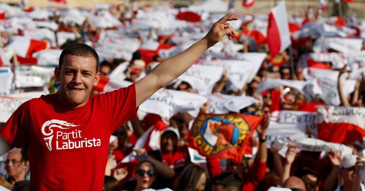 Partido Trabalhista faz passeata em Malta REUTERS/Darrin Zammit Lupi