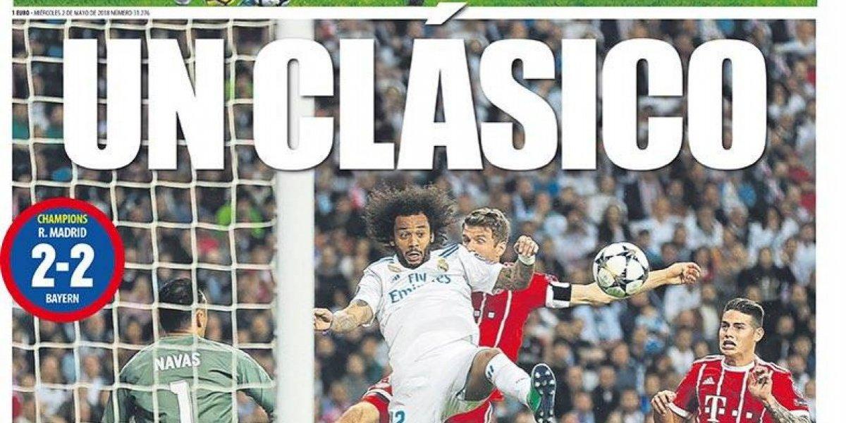 """""""Un clásico"""": La ira de los diarios catalanes tras paso del Real Madrid a la final de la Champions"""
