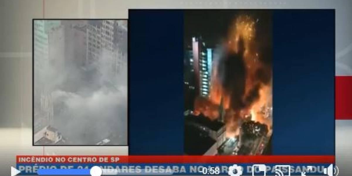 VÍDEO: veja o momento em que o prédio desabou no centro de São Paulo