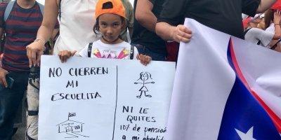 Así lucen las protestas en el Día de los Trabajadores