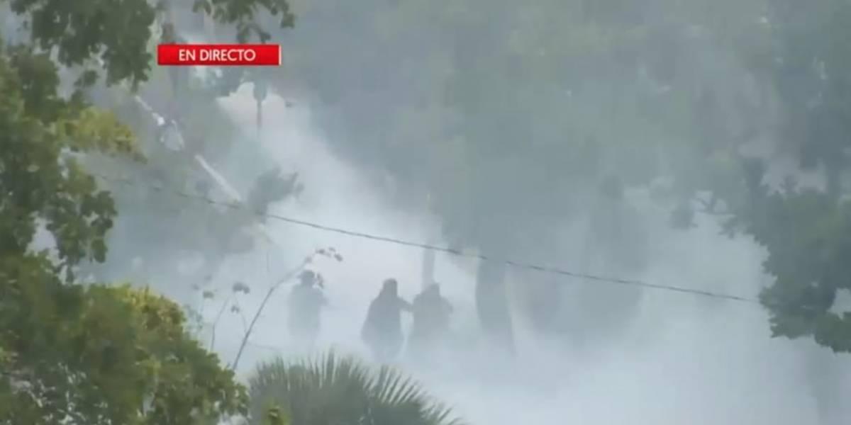 Reportan seis heridos en medio de paro nacional