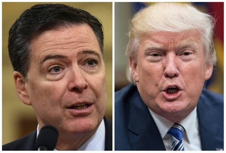 James Comey y Donald Trump