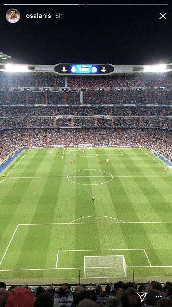 Oswaldo Alanís estuvo presente en partido del Real Madrid