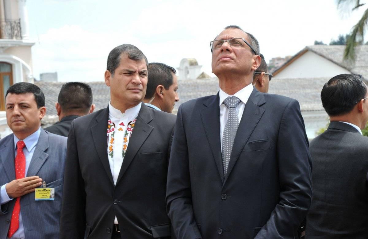 Exvicepresidente Jorge Glas, durante sus funciones