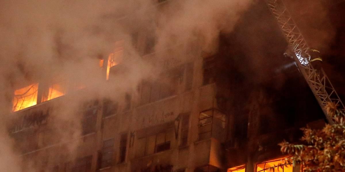 Curto-circuito no 5º andar deu início ao incêndio no prédio do Largo do Paissandu