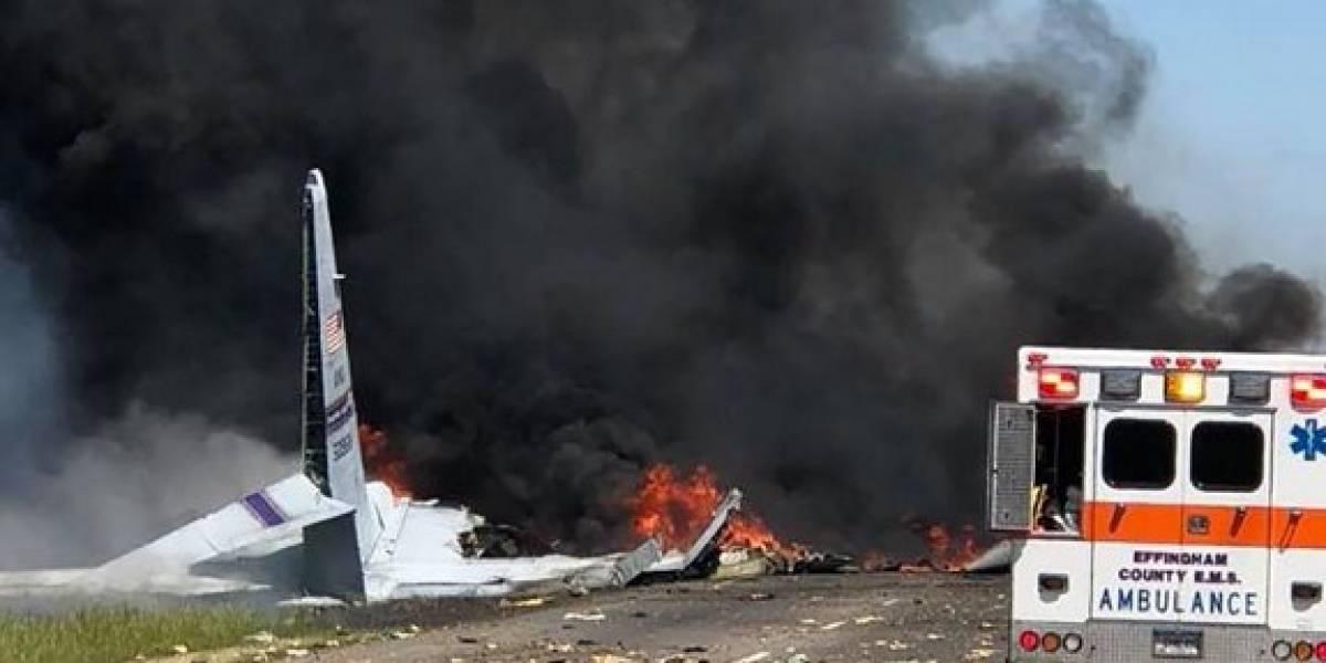 Accidente de avión militar deja cinco muertos en Georgia