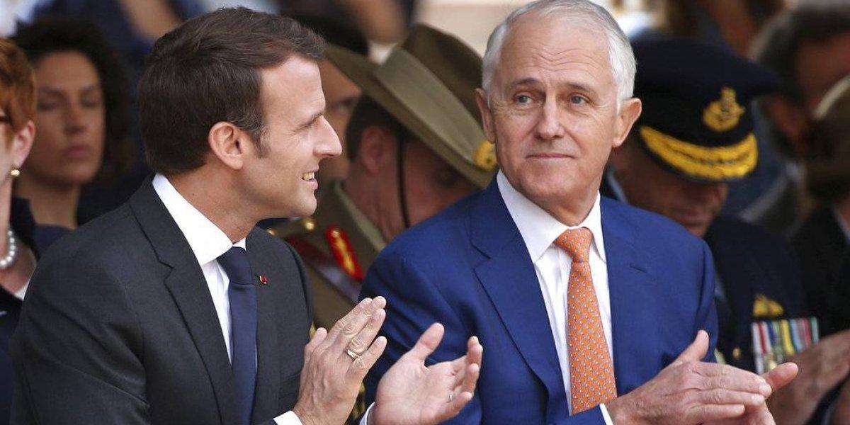 "Presidente francés llama ""deliciosa"" a esposa de primer ministro australiano"