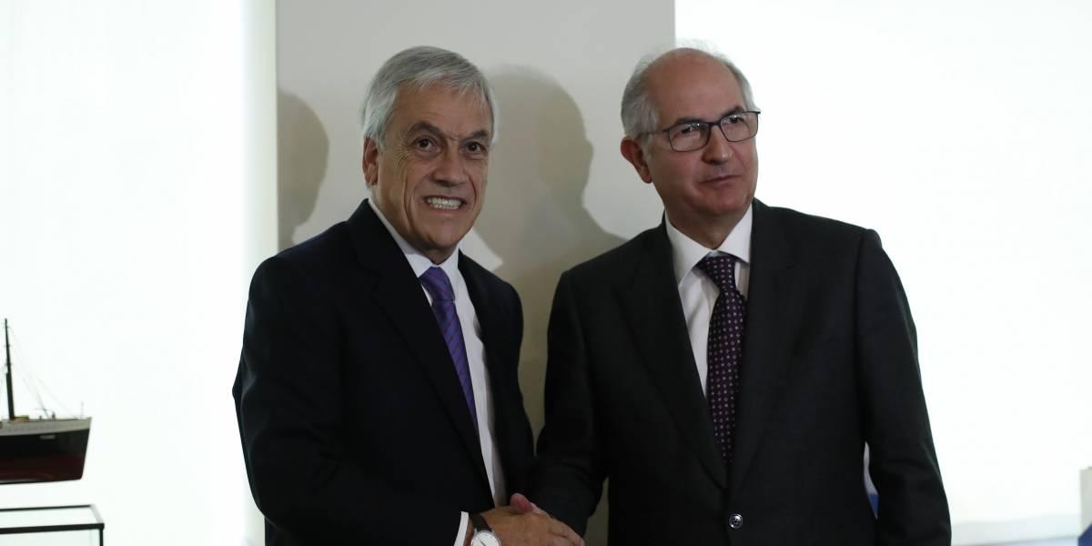 Sebastián Piñera se reunirá con Antonio Ledezma para abordar el conflicto político en Venezuela