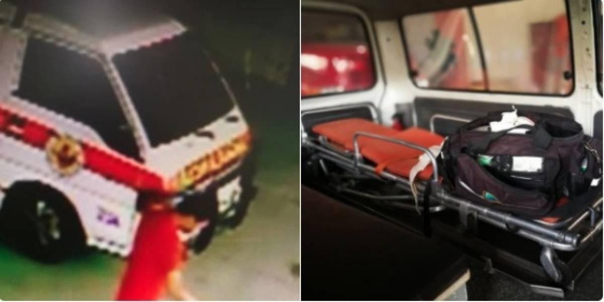 Mientras bomberos cubrían emergencia, hombre aprovecha y se roba el equipo de ambulancia