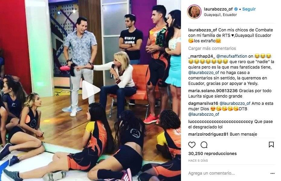 Laura Bozzo y algunos momentos en Ecuador, durante la promoción de su programa.