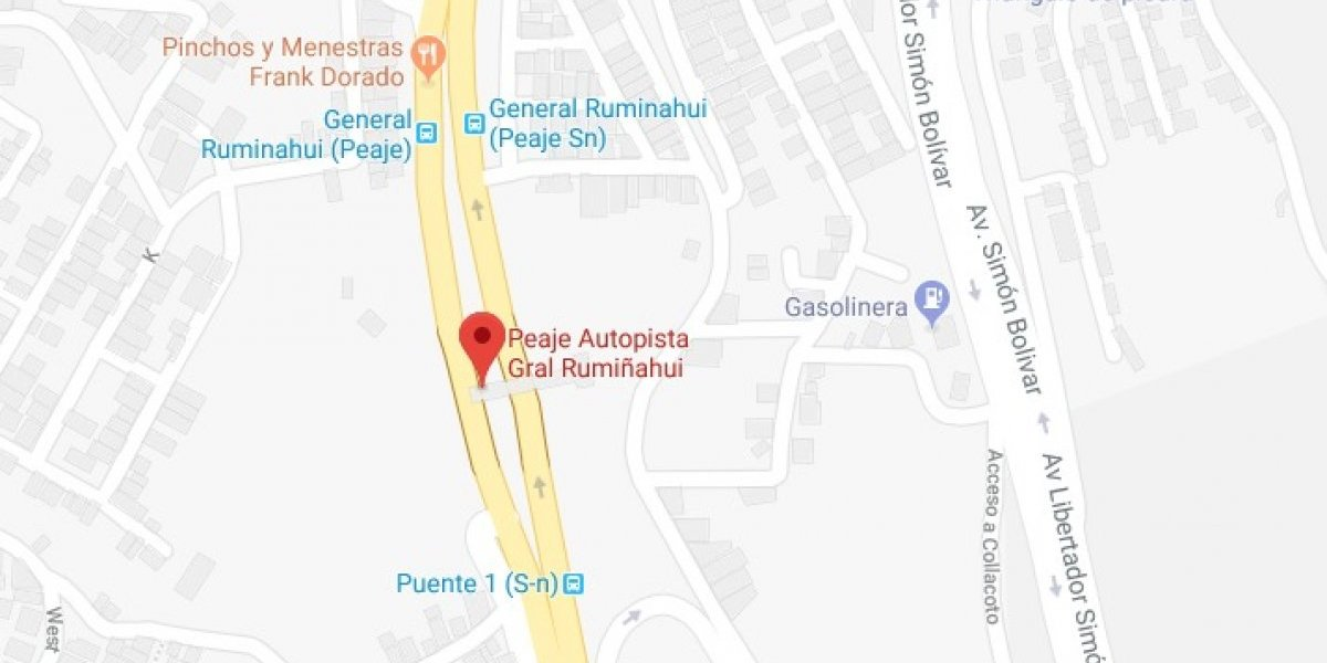 Se registró accidente de tránsito en la autopista General Rumiñahui