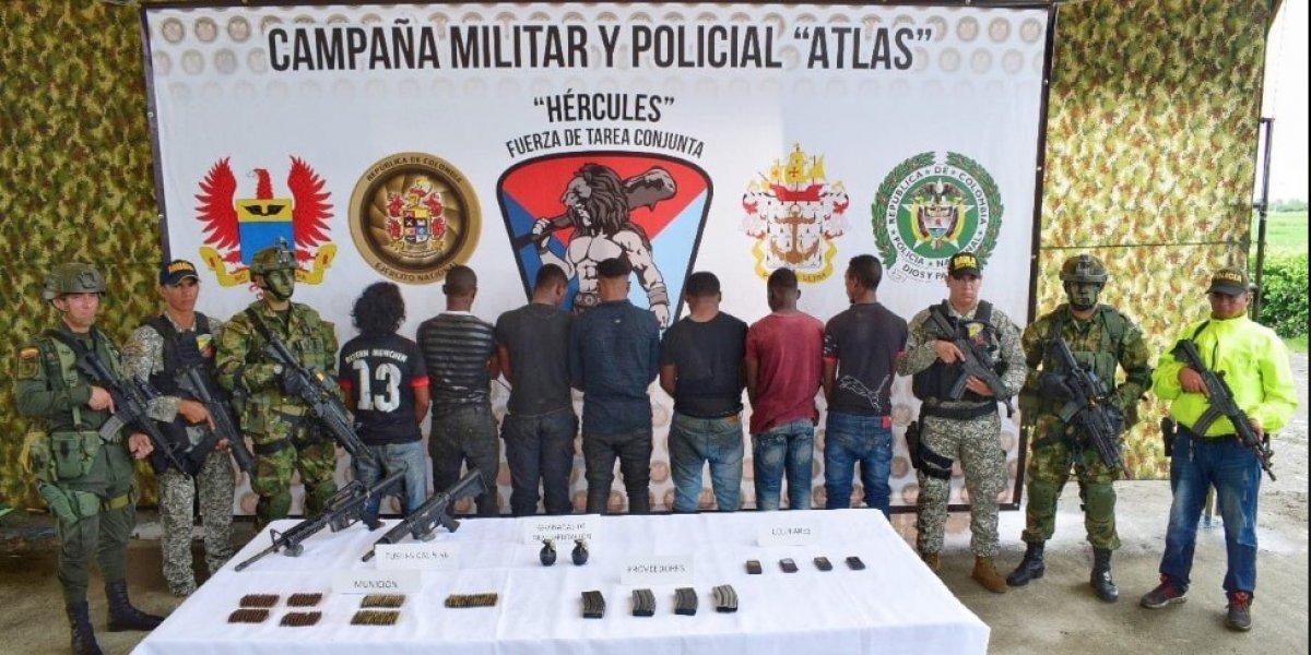 """Capturan siete miembros de la organización de alías """"Guacho"""""""