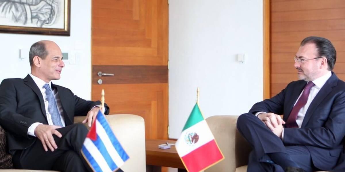 Videgaray dialoga con viceministro cubano para mejorar relaciones entre ambos países