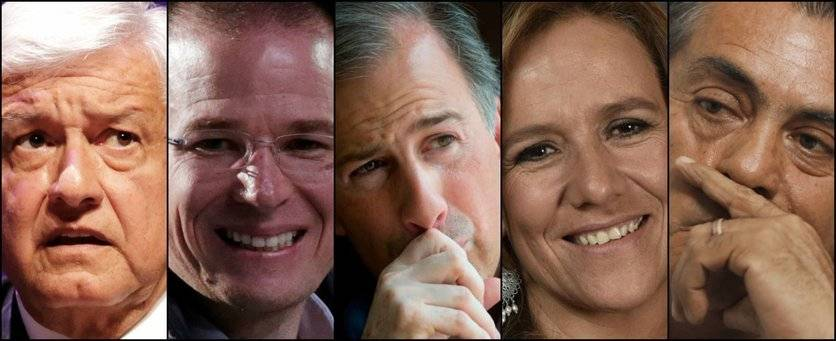 Los presidenciables rumbo al 1 de julio.