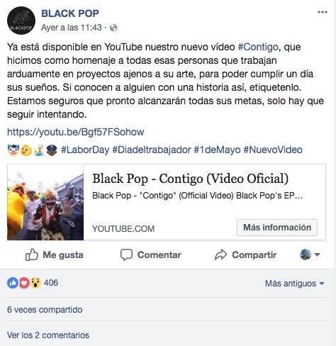 Facebook Black Pop